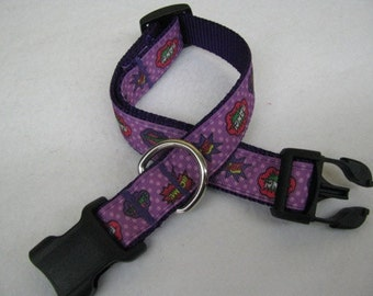 Comic Book Words Dog Collar - MULTIPLE SIZES AVAILABLE