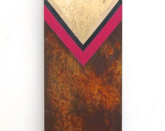 Abstract Art - Geometry - Black Gold Pink