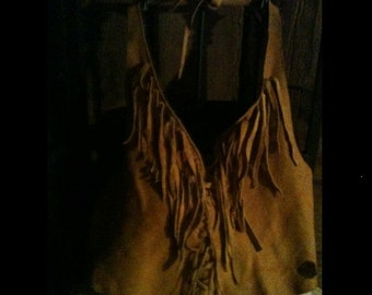 Deer hide top hand made