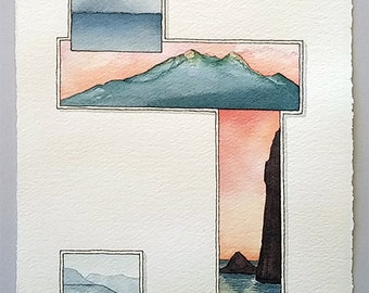 Watercolor Painting-Pacific NW Series 201