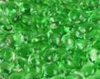 "Glass Gems Green Marbles Non Iridized Small 3/4"" Quantity of 40"