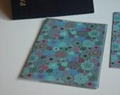 Passport Cover, Blossoms on Aqua, Passport  Sleeve, Case, Holder