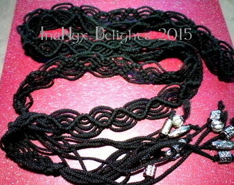 Black Corded Belt