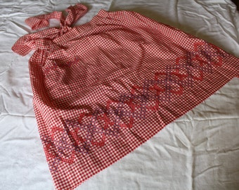 1950's Red Gingham Apron