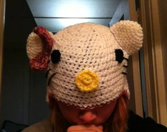 Hello Kitty Inspired Beanie
