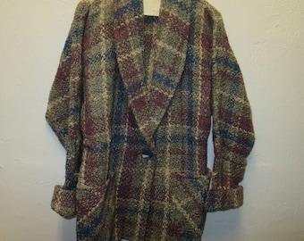 BOYNE  Valley Weavers Wool Blend Jacket Blazer Sweater One Size
