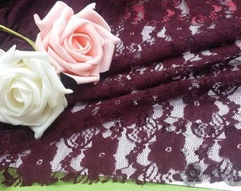 Fluorescence 4 way stretch lace fabric in  pink, red, purple and more excellent quality