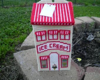 Ice Cream Shoppe Village Bag Holder