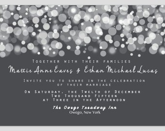 Wedding Invitation - Winter/Snow - Custom to Event