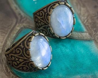 Ring Calypso Moonstone - Art pattern