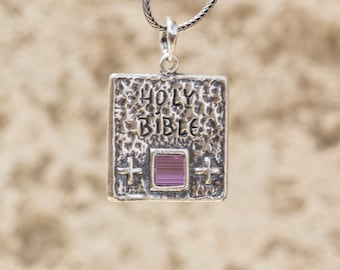 Holy Bible Sterling Silver Pendant