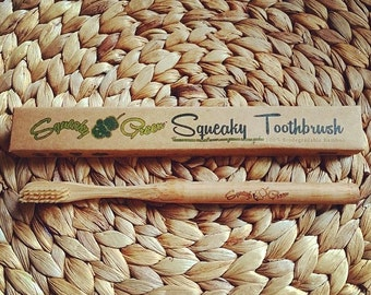 The Squeaky Green Bamboo Toothbrush