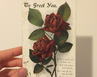 To Greet You poscard