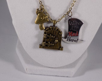 Alice and Wonderland Pendant Necklace