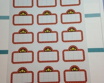 Movie Planner Stickers, Movie Night Stickers