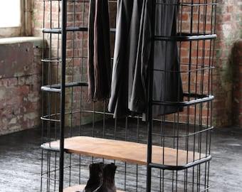Caged Wardrobe / Shelf Unit