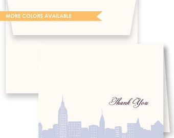 NYC Skyline Thank You Cards - Set of 25