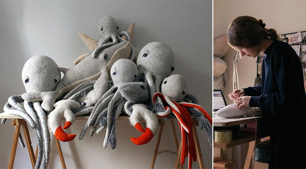 BigStuffed animals made by Dana Muskat