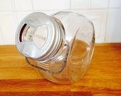 Presto Glass Jar with Lid and Wire Handle | Round Glass Jar | Presto Glass Cookie Jar | Wide Mouth Canning Jar