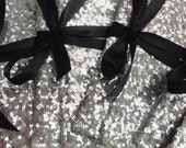 Silver and black sequin clutches // bridesmaid clutch // wedding bags // the ALEXIS envelope bow clutch