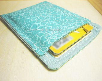 Teal, Gift for her, slim card minimalist wallet, id1360156   credit card case   moneystash   front pocket wallet   pill sleeve