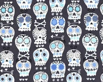 Bonehead in Charcoal - Michael Miller cotton quilt fabric - half yard