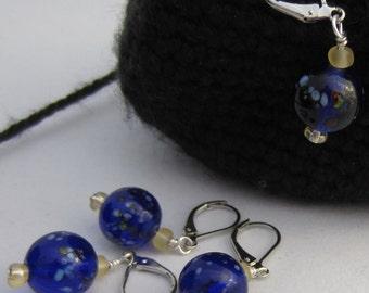 Blue Speckled Crochet Bling