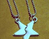 Best Friend star pendants in fine silver