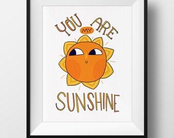 Fine Art Nursery Print - You Are My Sunshine
