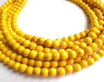 The Michelle- Yellow Magnesite Statement Necklace
