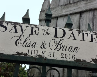 Save The Date Sign | Were Engaged | Just Engaged | Photo Props | Future Mrs | Custom Sign with Names & Wedding Date | She said Yes | Engaged