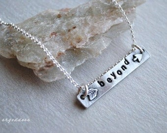 BEYOND sterling silver and pewter arrow necklace clasp and length choice by srgoddess
