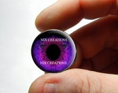 Glass Eyes -  Handmade Glass Purple Human Doll Taxidermy Eyes Cabochons - Pair or Single - You Choose Size