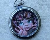 Peekboo - Steampunk Pocket Watch Myxie Sculpture