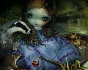 The Wind in the Willows fairy tale art print by Jasmine Becket-Griffith BIG 12x12 mister toad mr. badger rat kenneth grahame