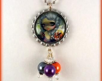 """Jasmine Becket Griffith  """" Poissons Volants: Le Portrait """"  necklace"""