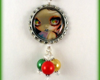 "Jasmine Becket Griffith  "" Faces of Faery 198 ""  necklace"