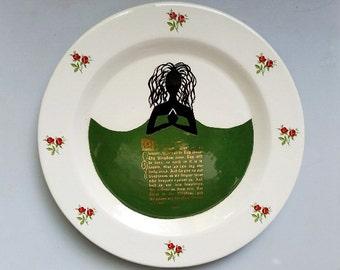 Earthenware The Shepherd's Prayer Display Plate