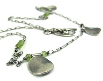 Peridot, Hill Tribe Fine Silver, Sterling Silver Necklace