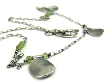 Peridot, Hill Tribe Fine Silver, Sterling Silver Necklace