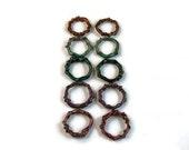 Copper enamel rings reserved for Brooke
