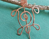 Little Copper Turtle Spiral Shawl Pin, Sweater Brooch, Scarf Pin, Fastener, Sweater Closure, Tortoise, Women, Knitting Accessories