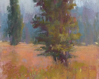 Plein Air CALIFORNIA Landscape ART Original Pastel Painting 8x10