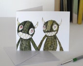 Small Gift Card Monsters in Love