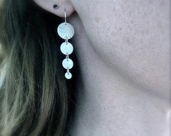 moon dangles ... sterling silver earrings