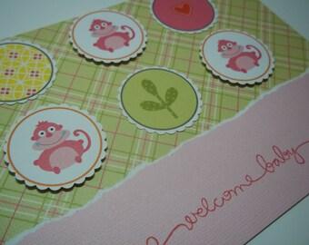 Baby Card, Congratulations Baby Girl Card, Welcome Little One, Baby Greeting Card, Congratulations Baby Card, Baby Shower Card