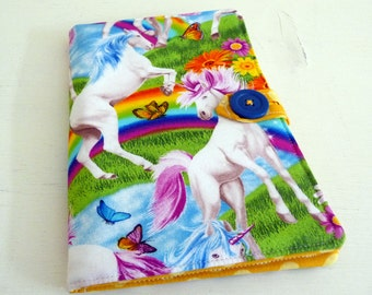 Magical Unicorn Notepad Cover, Notebook Case