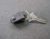 Leather key fob - Smooth brown