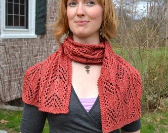 Conklaree Lace Scarf Knitting Pattern PDF