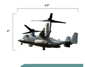 V22 Osprey Military VTOL Aircraft Decal